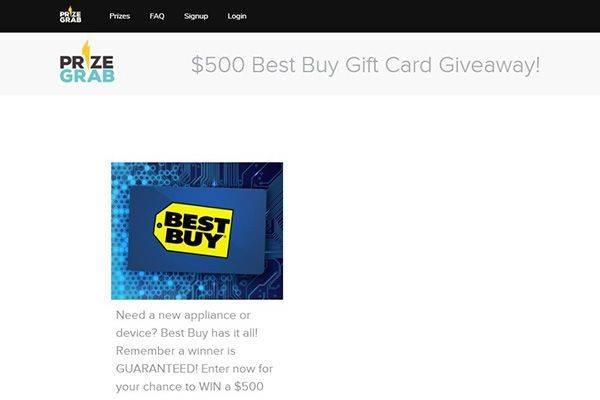 PrizeGrab - Top 10 Best Online Lotto