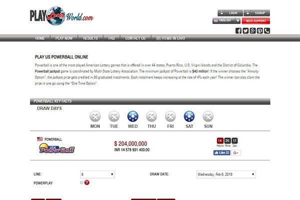 World Lottery Online