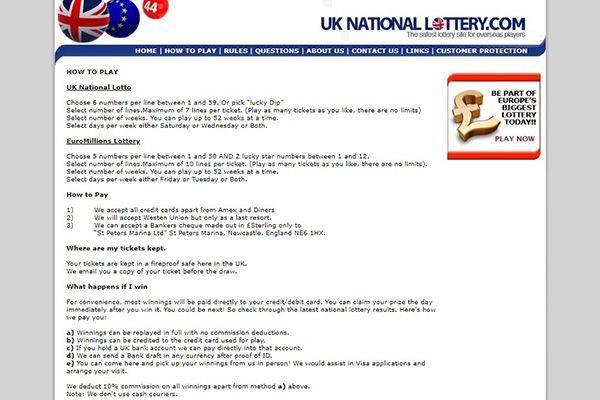 UKNationalLottery com - Top 10 Best Online Lotto