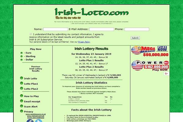 irish-lotto com Lottery - Top 10 Best Online Lotto