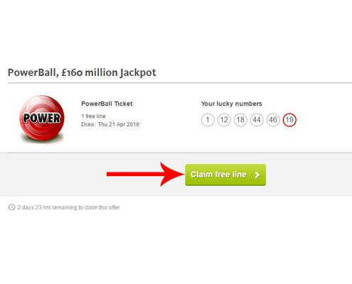 Step 4 on How to Get A FREE Powerball Lottery Ticket