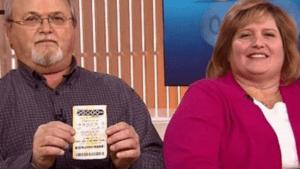 John and Lisa Robinson lottery winners