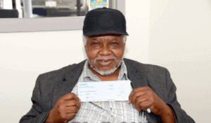Clarance Jones Lottery winner